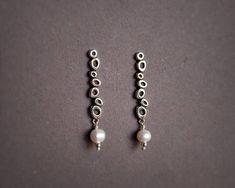 Sterling Silver Long Earrings Onix Stones Earring Black and
