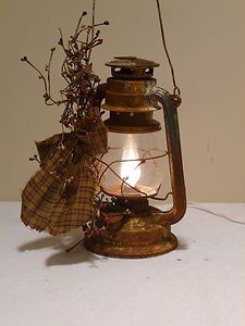 Oil Lantern Electric Country Primitive Home