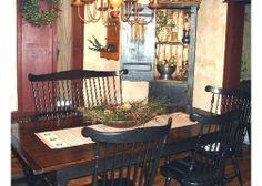 primitive decor dining room | Colonial Primitive Dining Room, This is our Dining Room I love the ...