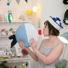 Isn´t the new fish pillow from emoke.at not just smoochable! #pillow #handmade…