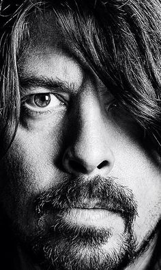Dave Grohl...got to see the Foo Fighters in concert....amazing....  close up of serious face February 2015