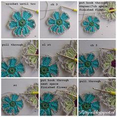 For more pictures click here . For dutch version click here /voor nederlandse versie klik hier . The shawl measures 275x75 cm. I use...