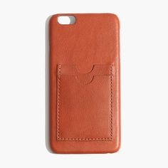 Avoid scratches and scuffs in style with a cool leather case for your iPhone 6 Plus, complete with slots for your cash and cards. (Your smartphone will thank you.) <ul><li>Leather.</li><li>Fits iPhone 6 Plus.</li><li>Import.</li></ul>