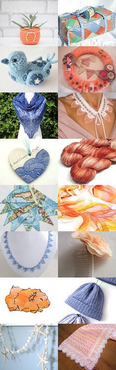 Summer sunset by Susie Woodward on Etsy--Pinned with TreasuryPin.com Summer Sunset, Crochet Earrings, Challenge, Etsy