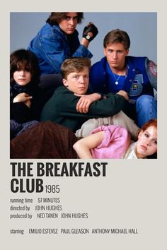 Alternative Minimalist Movie/Show Polaroid Poster - The Breakfast Club - Iconic Movie Posters, Minimal Movie Posters, Minimal Poster, Iconic Movies, Movie Poster Art, Poster Print, Retro Poster, Poster Wall, Vintage Music Posters