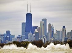chicago lakefront waves