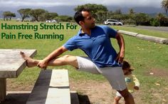 Hamstring Stretch For Pain Free Running - Stretch out those hamstrings so you can move easier and reduces chances of low back injury and running related injuries. #hamstring #painfree #injury #injuries http://www.tridoshawellness.com/hamstring-stretch-for-pain-free-running/