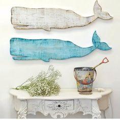 Wooden Whale Wall Plaque - artwork - new york - by Suzanne Nicoll Studio Blue Home Decor, Coastal Decor, Coastal Interior, Coastal Cottage, Coastal Style, Interior Design, Coastal Living, Beach Wall Decor, Beach House Decor