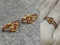 knot ring - How to make wire jewelery 147 - YouTube