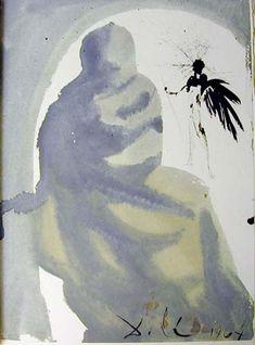 """Seduxisti me, Domine"", gouache von Salvador Dali (1904-1989, Spain)"
