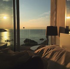 hotel sunset sunrise sea photography artificial objects aesthetic landscape cars lights roads artistic beautiful g e o r g i a n a : p h o t o g r a p h y Apartment View, Dream Apartment, Window View, Aesthetic Bedroom, Dream Rooms, Architecture, My Dream Home, Future House, Aesthetic Wallpapers