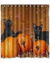 Ganma Ganma Happy Halloween Pumpkin With Black Cat Pattern Print