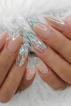 Almond Acrylic Nails, Best Acrylic Nails, Acrylic Nail Designs, Nail Art Designs, Wow Nails, Sexy Nails, Chic Nails, Stylish Nails, Classy Nail Designs