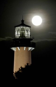 Lighthouse at night. This reminds me of one I saw in Oregon last August 2014, could be on Oregon coast.