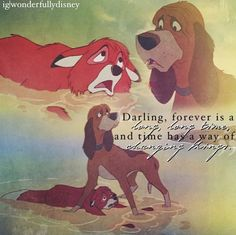 The Fox and the Hound...little sisters favorite movie when she was just a toddler, which makes it my favorite movie as well.