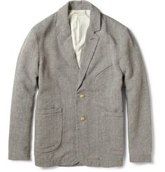 Unconstructed cotton and linen jacket from Folk, Men's Spring Summer Fashion.