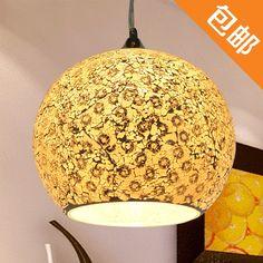 145.00$  Buy now - http://alijoe.worldwells.pw/go.php?t=775534453 - EMS FREE SHIPPING 2PCS Fashion glass mosaic pendant light fashion brief rustic bar dining room
