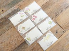 New-High Quality Letterpressed Washi Flora by littlehappythings1