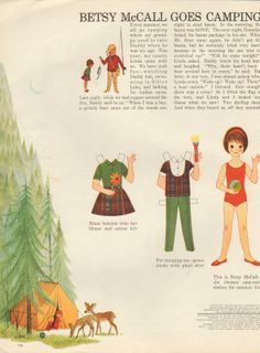 Betsy McCall Paper Doll Goes Camping