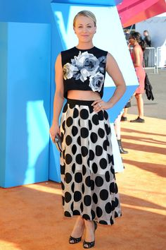 Not Kaley Cucuo (pretty as she is) but now I really want a sheer dotty skirt! Can whip one up, just need to find the fabric!!