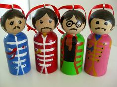 The Beatles Sgt Peppers Peg People by Unicornycopia on Etsy, $40.00