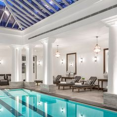 British-made products are in high demand overseas and our garden rooms and orangeries are no exception. So how does our process differ when working abroad? Orangery Extension, Westbury Gardens, World Of Interiors, Grand Hotel, Pool Houses, Mansions, House Styles, Indoor Pools, Outdoor Decor