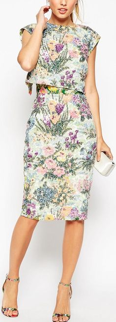 floral layered dress