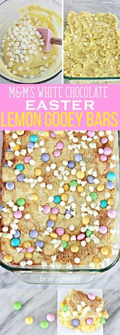 MandM'S White Chocolate Easter Lemon Gooey Bars