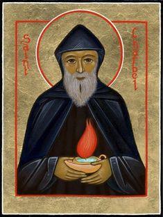 """July 23 - The Feast of Saint Sharbel St. Sharbel, pray for us. Byzantine Icons, Byzantine Art, Religious Icons, Religious Art, Maronite Church, St Charbel, Archangel Michael, Jesus Pictures, Catholic Saints"