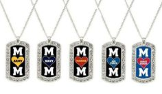 Inspired jewelry military mom necklaces