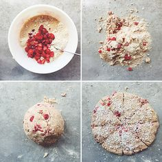 Tart Cherry Graham Scones // take a megabite