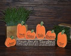 Pumpkin Thanksgiving Decor Personalized Pumpkins Family Block Set-Personalized Grandma Gift Thanksgiving Decoration Personalized Holiday