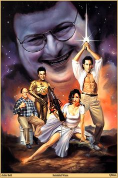 seinfeld wars - by julie bell (who knows Elaine is packin' big-time)