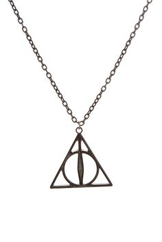 Harry Potter And The Deathly Hallows Black Necklace
