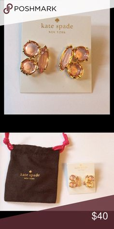 Kate Spade Desert Stone Earrings Pink Kate Spade Desert Stone Earrings. Pink/Gold-Tone   New Dustbag included   No Trades No Holds kate spade Jewelry Earrings