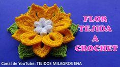 Te encantarán !!! estas lindas flores tejidas a crochet en diferentes co...