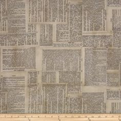 Tim Holtz Eclectic Elements Dictionary Neutral Fabric By The Yard: Designed by Tim Holtz this cotton print fabric is perfect for quilting apparel crafts and home decor items. Colors include black and cream on beige. Tim Holtz Fabric, Neutral Quilt, Pillow Fabric, Wall Fabric, Quilting Fabric, Free Spirit Fabrics, Home Decor Fabric, Quilting Designs, Quilting Ideas