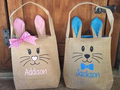 Your place to buy and sell all things handmade Easter Baskets To Make, Easter Crafts For Kids, Bunny Bags, Boyfriend Crafts, Craft Stick Crafts, Diy Crafts, Valentine's Day Diy, Kids Bags, Vinyl Projects