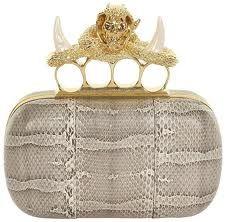 Alexander McQueen Clutch  ~~~ ✿RePin from Golden Shadow✿