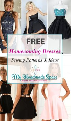 FREE Homecoming Dressess Sewing Patterns