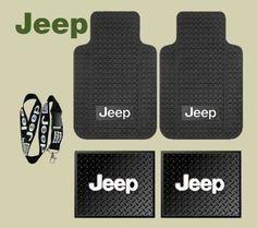 Jeep Logo Car Truck SUV Front & Rear Seat Rubber Floor Mats 4PC SET & Jeep Lanyard Kechain Holder Jeep http://www.amazon.com/dp/B00E4ZBX12/ref=cm_sw_r_pi_dp_WBRMvb0QDTJQ2