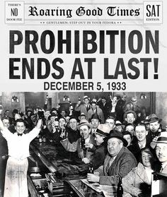 Today in Social Sciences...: Prohibition and the consolidation of the mafia in the USA