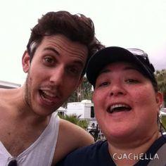 Selfie with Ryan Rabin of Grouplove. Coachella 2014