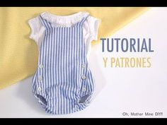 Romper pattern and tutorial Baby Girl Dresses, Baby Boy Outfits, Baby Dress, Kids Outfits, Baby Sewing Projects, Sewing For Kids, Sewing Baby Clothes, Diy Clothes, Baby Knitting