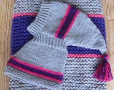 Dog sweater-hand knit dog sweaterall size by CouchPotatoDogKnits