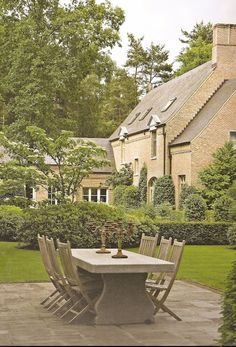 love the simple landscape with timeless Belgian architecure