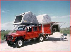Land Rover Defender All terrain 6x6. England is eliminating the need for ridiculous campers one Land Rover at a time.