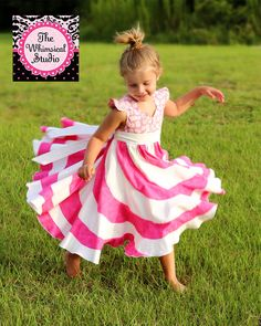 Peppermint Swirl Dress Girl's Valentines by TheWhimsicalStudio