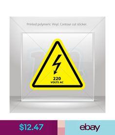 Decals, Stickers & Vinyl Art Sticker Decals Danger High Voltage 220 Volts Ac Vehicle St5 X4278 #ebay #Home & Garden