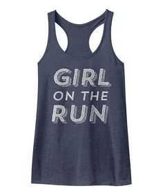 Another great find on #zulily! Heather Navy 'Girl On The Run' Racerback Tank #zulilyfinds